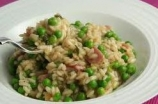 Risotto ai Piselli e Prosciutto Cotto - Risotto with Peas and Italian Baked Ham